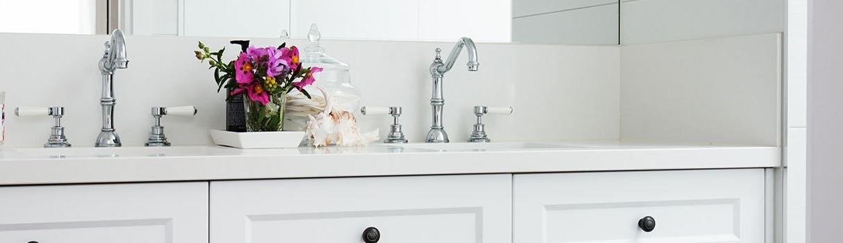 Hamptons Style Bathroom Small Header - Brisbane Bathroom Renovators